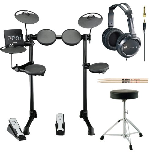 Yamaha DTX400K Customizable Electronic Drum Set with Drum Throne