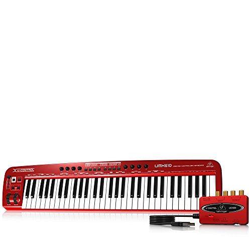Behringer U-Control UMX610 61-Key USB/MIDI Controller Keyboard