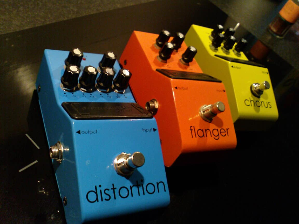 Flanger Pedal Control Switches