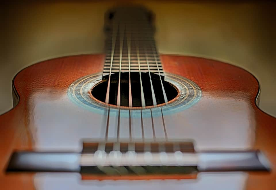 Strings of a Classical guitar