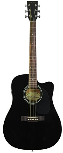 Jameson Full Size Thinline Black acoustic electric guitar