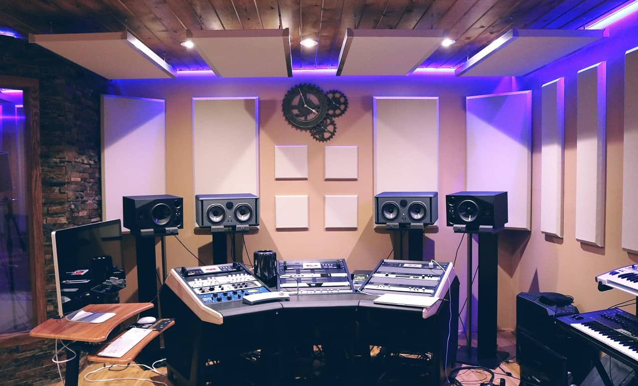 Recording studio foam panels