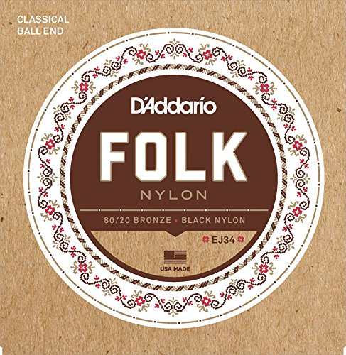 D'Addario EJ34 Folk nylon strings