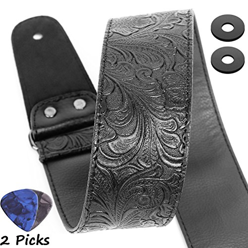 PU Leather Western Vintage 60's Retro Guitar Strap