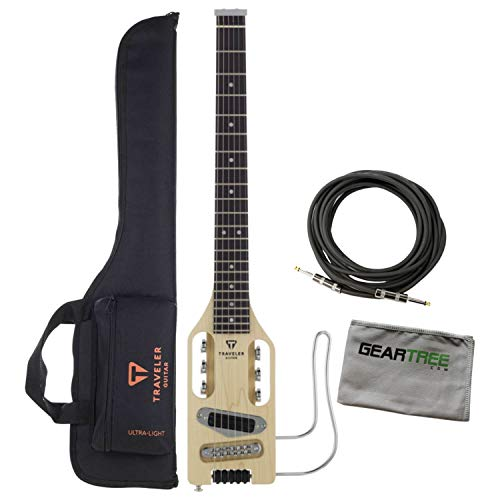 Traveler Guitar Full-Scale Natural Electric Bundle