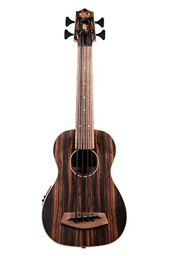 Kala UBASS-EBY-FL Striped Ebony Fretless U-Bass