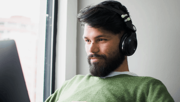 Man with headphone