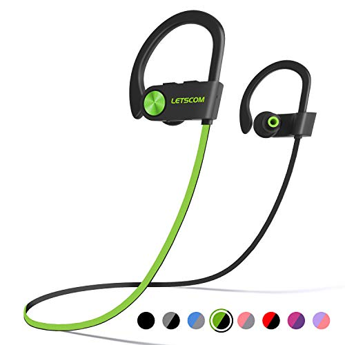 LETSCOM Bluetooth Headphones IPX7