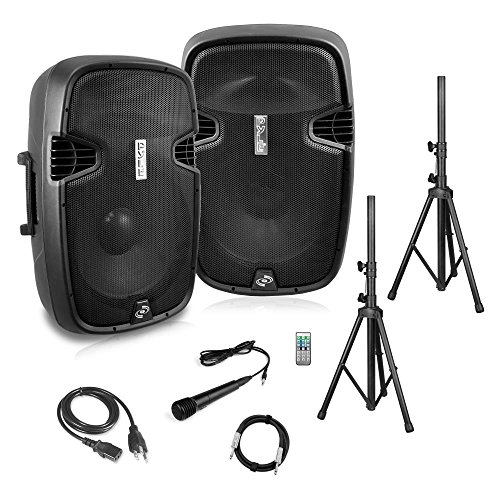 Pyle 2 Powered Bluetooth PA Active Loudspeaker