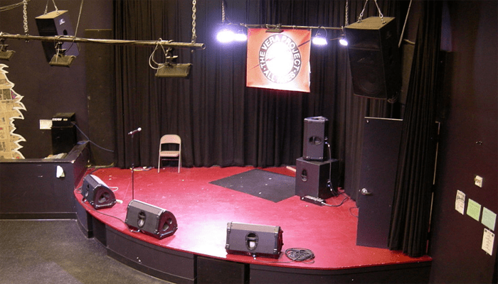Stage and speakers