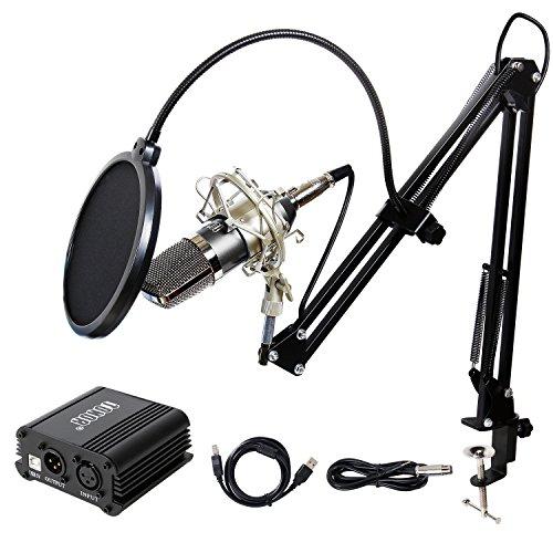 TONOR 3.5mm Professional Condenser Recording Rap Vocal Microphone