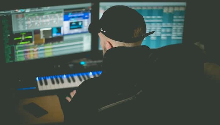 Music producer using a PC